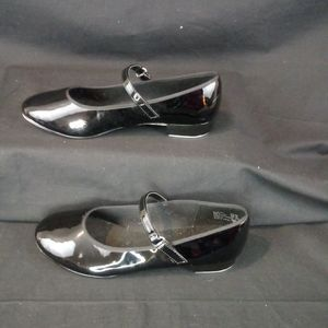 American Beauty Theater Shoes - Black Tap Shoes woth Silver Taps